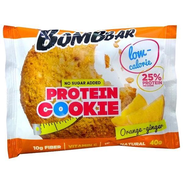 Печенье Bombbar протеиновое апельсин-имбирь, 40 г
