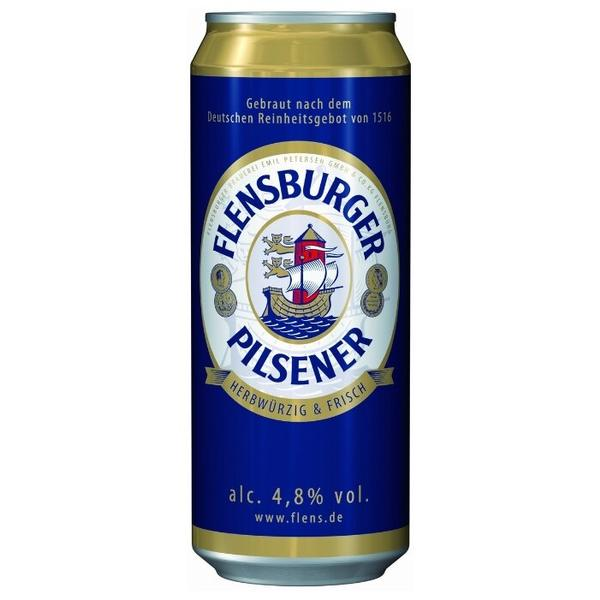 Пиво Flensburger, Pilsener, in can, 0.5 л