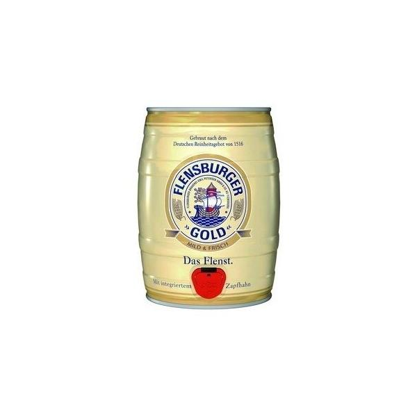 Пиво Flensburger, Gold, mini keg, 5 л